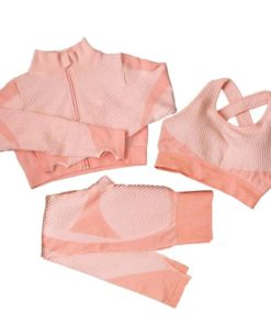 Yoga Suits-3 pcs. Pink